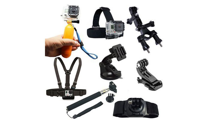 8PCS Action Camera Accessory Kit