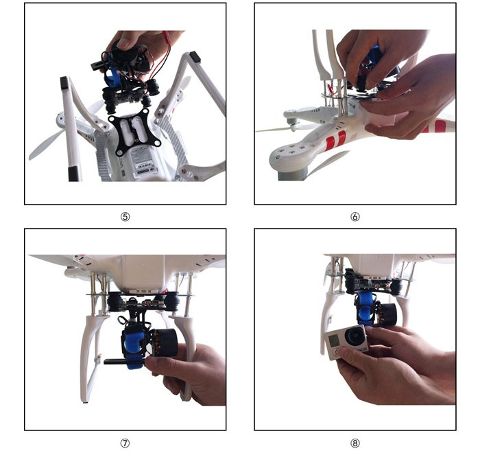 FPV-Brushless-Gimbal-Controller5 FPV Brushless PTZ Gimbal per GoPro 3 - 4