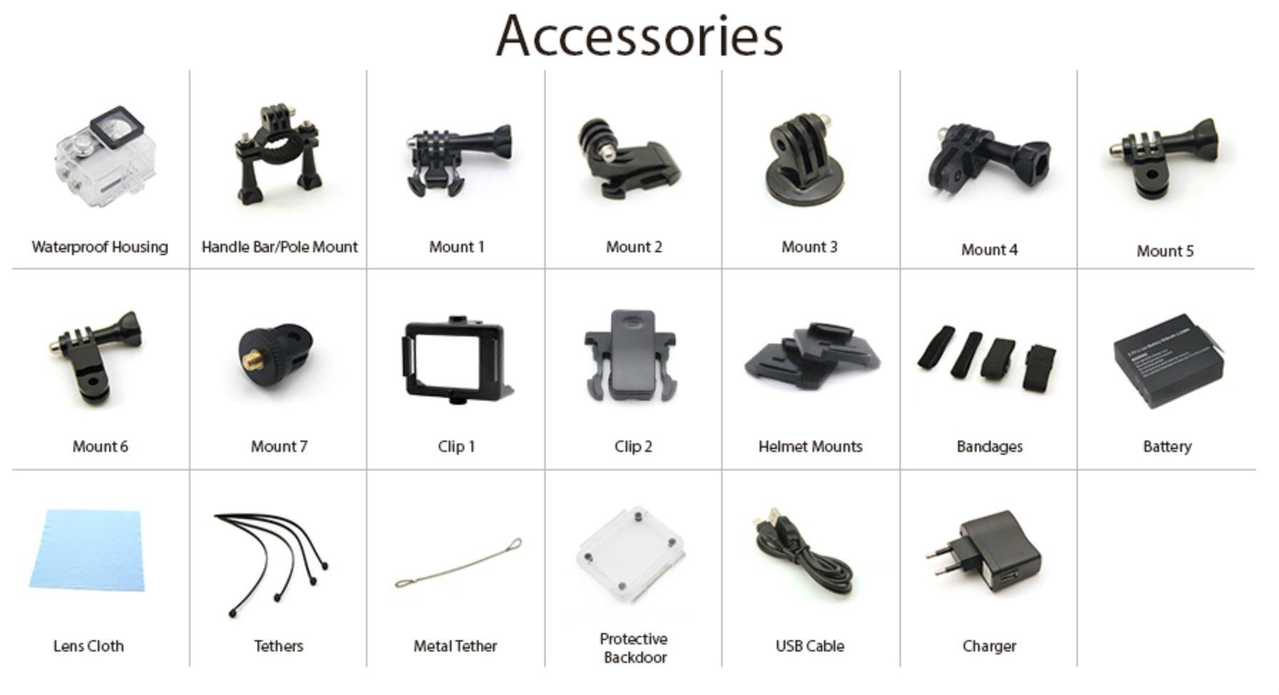 EKEN-H9-4K-accessories