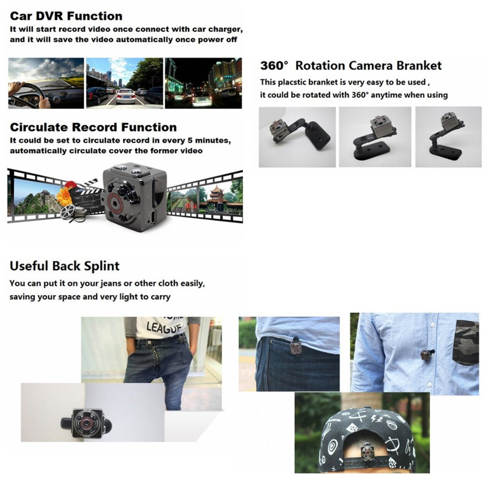 SQ8_MiniDV_Camera_1080p_Car_DVR4 SQ8 Mini DV Camera 1080P Full HD Car DVR Recensione