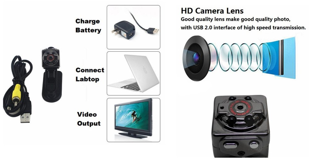 SQ8_MiniDV_Camera_1080p_Car_DVR5 SQ8 Mini DV Camera 1080P Full HD Car DVR Recensione