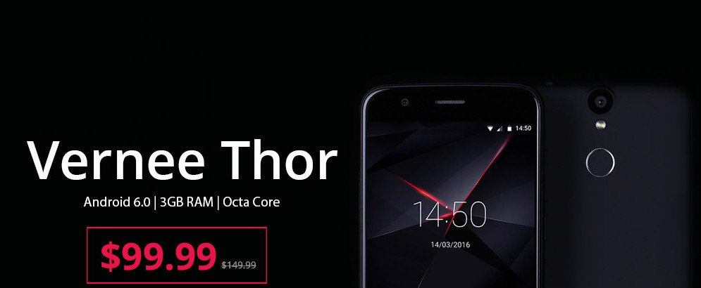 Vernee Thor Flash Sale - 4G, android 6, 5
