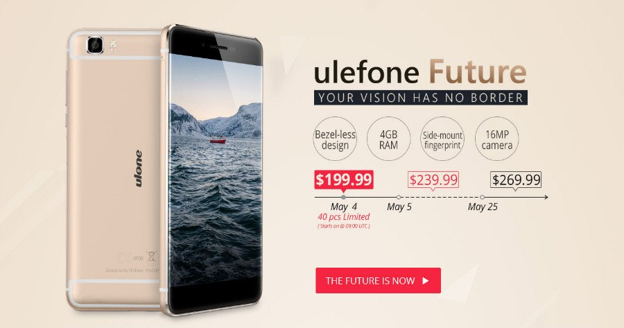 Ulefone Future - presale promotion