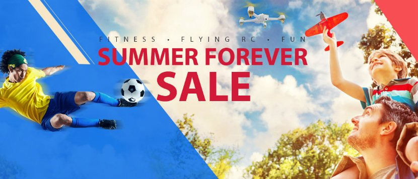 Summer sales: drones, active wear, toys