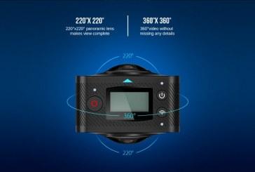 Elephone Elecam 360 WiFi Action Camera Dual Lens overview