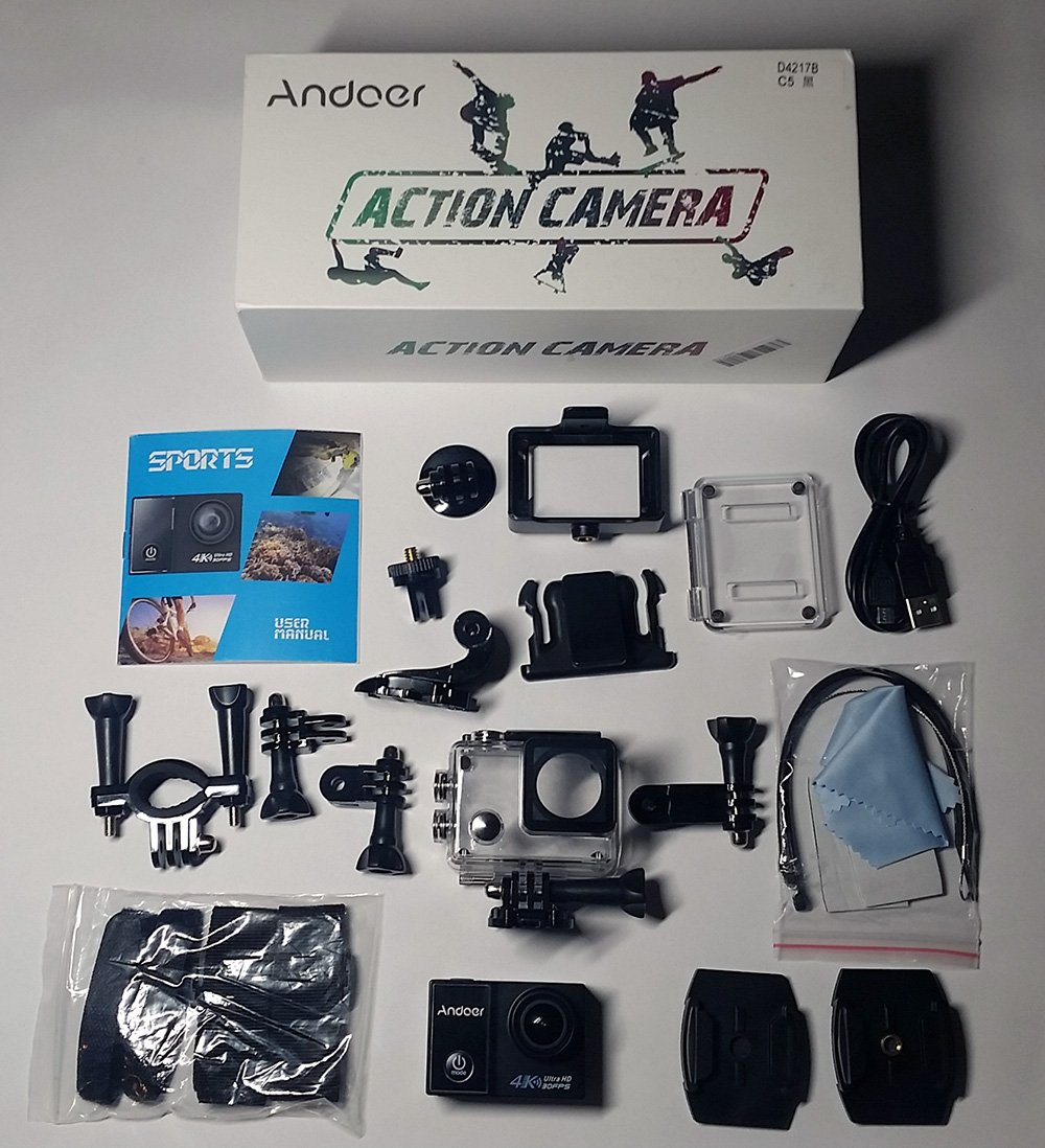 Andoer-C5-accessori Recensione Andoer C5 Pro - prove video e foto