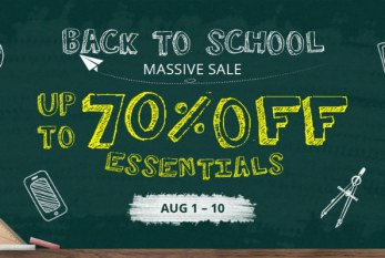Back to school – summer sale from Everbuying