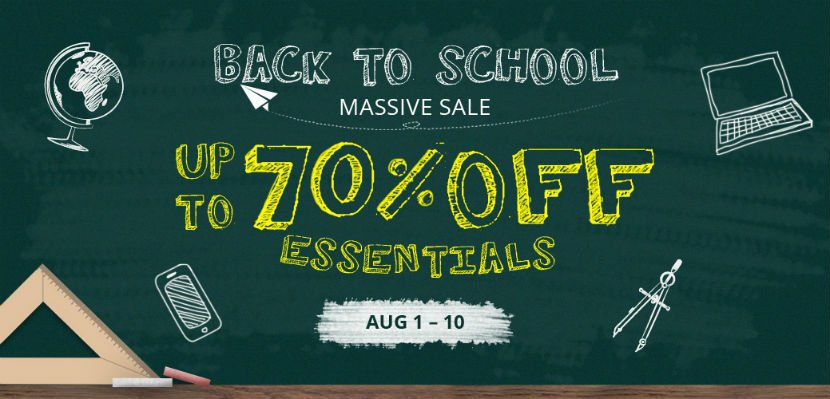 Back to school - summer sale from Everbuying