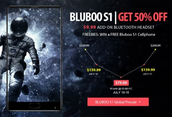 Bluboo S1 smartphone 4G 4+64GB coupon