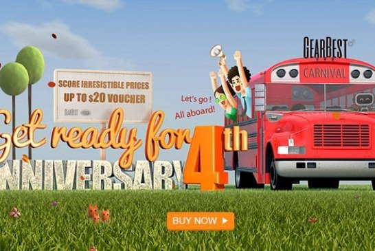 Gearbest 4th anniversary: coupons, draws, deals